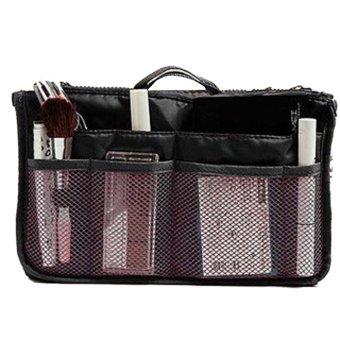 Multiple Compartment Picnic Travel Organizer Storage Bag (Black)
