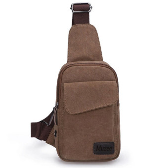 MUZEE Man's Shoulder Bag Messenger Bags canvas bag-coffee - Intl Price Philippines