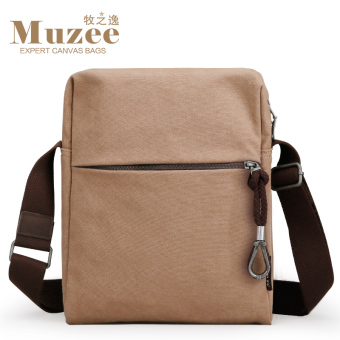 MUZEE youth small backpack New style canvas bag (Light coffee) (Light coffee)