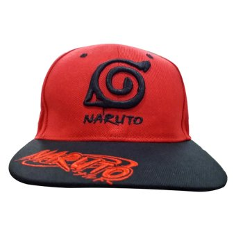 Naruto - Konoha Designed Bull Cap (Red/Black) - 2