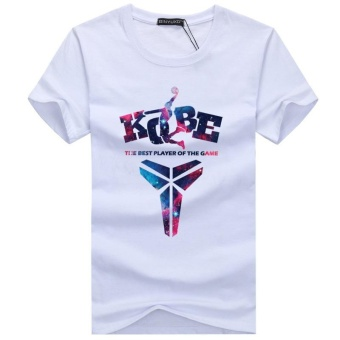 NBA Theme Shirt Kobe Bryant LOGO T-shirt Men's Pure Cotton PrintShort-Sleeve - intl