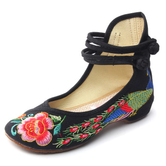 New Chinese Style Women Casual Shoes Flower Sandals Embroidered Flats Mary Janes -Intl - 5