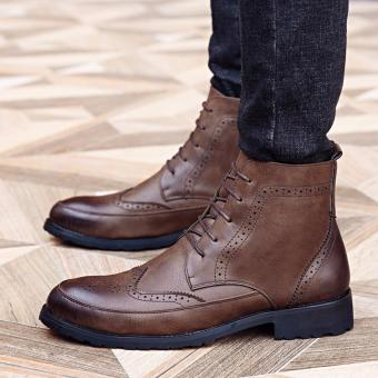 New Classic Men'S Real Leather Ankle Boots (Brown) intl - 3