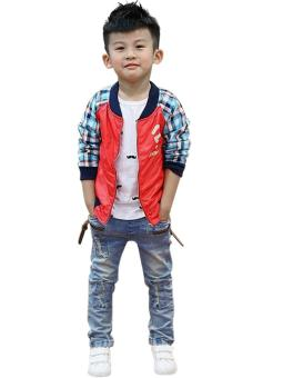 New Fashion Kids Children Boys Elastic Waist Jeans Denim Pants - 5