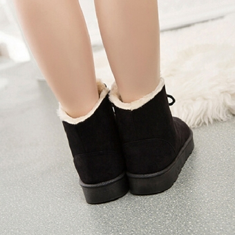 New Fashion Women Round Toe Ankle Boots Shoes Flat With Lace UpBoots(Khaki) - intl - 5