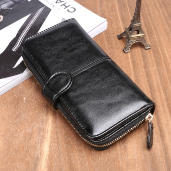New Fashion Women Synthetic Leather Zip Purse Card Holder Clutch Long Wallet - 2
