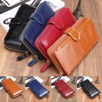 New Fashion Women Synthetic Leather Zip Purse Card Holder Clutch Long Wallet - 3