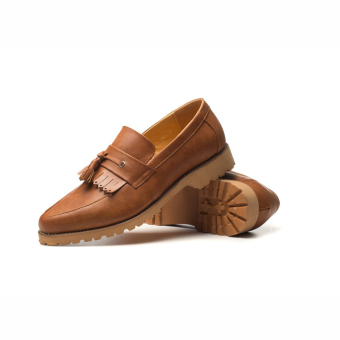 New Leisure Men's Leather Bullock Shoes (Brown) - picture 2