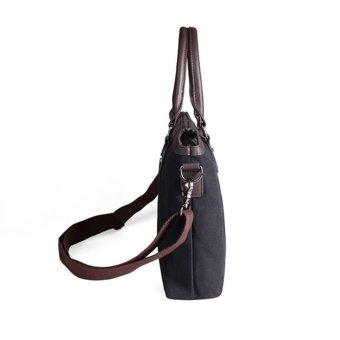 New Men's Business Canvas Briefcase Handbag Cross-body Bags (Black) - picture 4