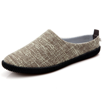 New Men's Casual Shoes to Help Low Breathable Half Slippers(Khaki)