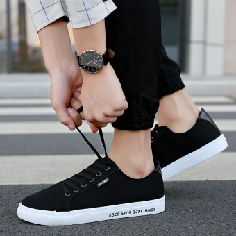 New style autumn canvas shoes (Black)