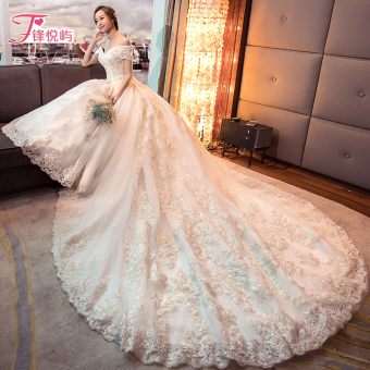 New style bride wedding dress wedding veil (Train)