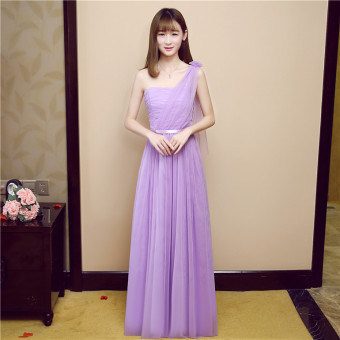New style bridesmaid dress Dress bridesmaid dress (Purple Ribbon)