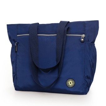 New Style Large Capacity travel women's bag shopping bag (Dark blue color) (Dark blue color)