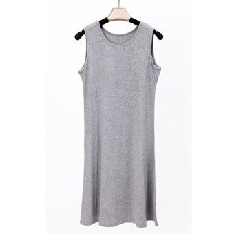 New style spring and summer sleeveless vest skirt (Light gray color)