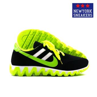 New York Sneakers Alea Rubber Shoes(BLACK/GREEN) - 3