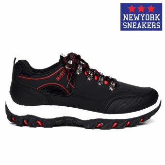 New York Sneakers Brian Mistt Low Cut Shoes(BLACK) - 2