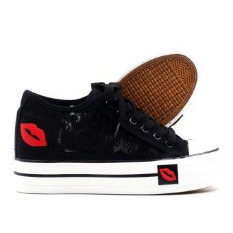 New York Sneakers Brielle Platform High Cut Shoes (Black) - 3