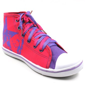New York Sneakers Kelsey High Cut Shoes (Pink/Violet)