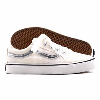 New York Sneakers Lynette Low Cut Shoes(WHITE/SILVER) - 3