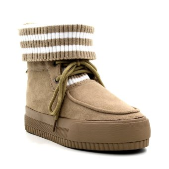 New York Sneakers Nimah High Cut Shoes (Light Brown)