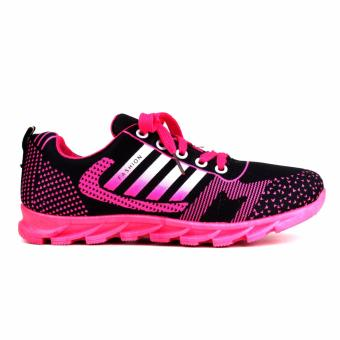 New York Sneakers Selby Rubber Shoes(BLACK/PINK) - 2