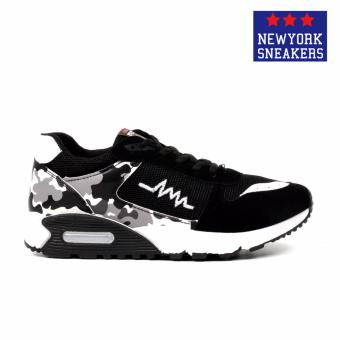 New York Sneakers Trent Rubber Shoes(BLACK/WHITE) - 2
