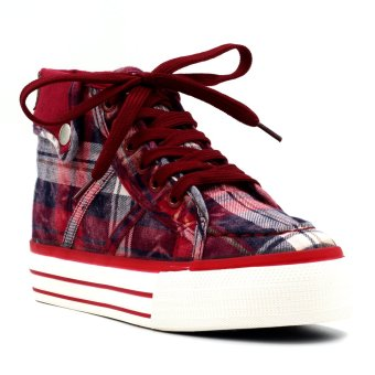 New York Sneakers Tyson High Cut Shoes (Maroon)