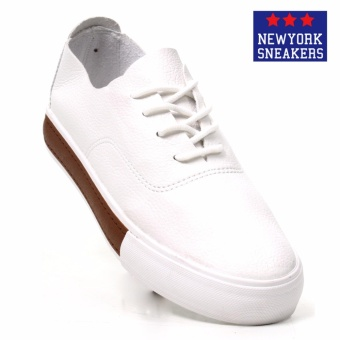 New York Sneakers Xinben Low Cut Shoes(WHITE/BROWN)