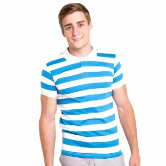 Newyork Army Awning Stripes Men's Polo Shirt - Blue
