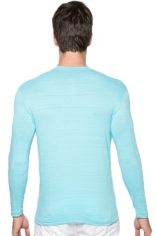 Newyork Army Men's V-neck Long Sleeves (Sky Blue) - picture 2