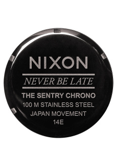 Nixon Sentry Chrono Men's Gunmetal Stainless Steel Strap Watch A386-1885 - 4