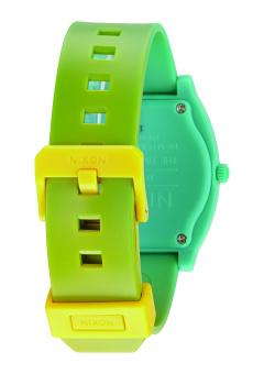 Nixon Time Teller P Unisex Yellow/Teal Fade Polyurethane Strap Watch A119-1385 - 3