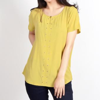 No Apologies Plain Rayon S/S Blouse Nft04-0143 (O.Yellow)