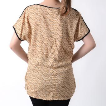 No Apologies Woven Short Sleeves Blouse NFT04-0263 (Brown) - 3