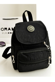 Nylon leisure Backpack (Black) - picture 2