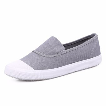 Ocean NEW Ladies fashion Flat shoes Han edition Canvas shoes(Grey) - intl - 2