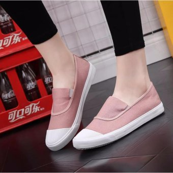 Ocean NEW Ladies fashion Flat shoes Han edition Canvas shoes(Pink) - intl