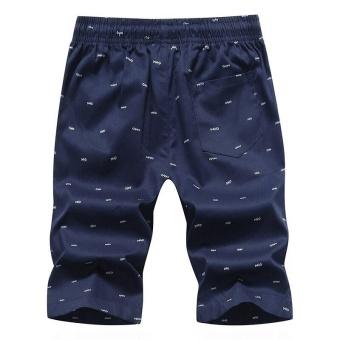 Ocean New Men Fashion Chino Shorts Leisure Teenagers printingCotton shorts(Dark blue) - intl - 3