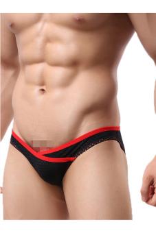 OEM 1516 Men's Underpants Briefs low waist Stripe (Black) - picture 2
