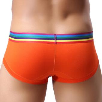 OEM 3pc Men's Underwear Modal Breathe Freely Briefs Shorts (Orange) - picture 2