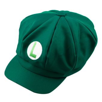 OH Chic Luigi Super Mario Bros Cosplay Adult Size Hat Cap Baseball Costume New Green L