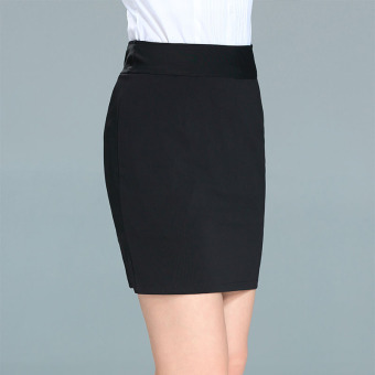 Ol career skirt one-step skirt (Black) (Black)