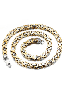 Olen Gold Plated Half Circle Link Necklace (Gold)