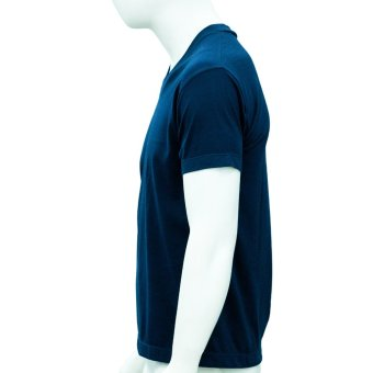 Omni By SO-EN Men's V-Neck T-Shirt (Navy Blue) - 3