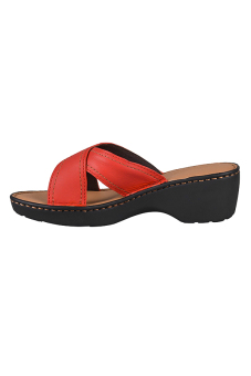 Outland Jessica Sandals (Red Orange/Light Brown) - picture 4
