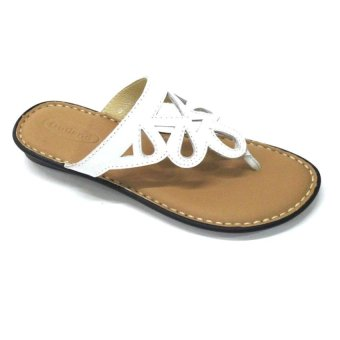 Outland Kiana Slippers (White/Light Brown)