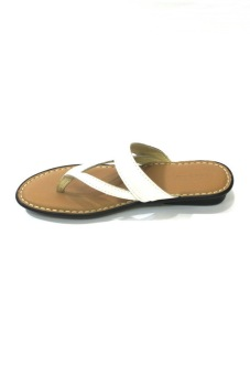 Outland Tatiana Sandals (White/Light Brown)