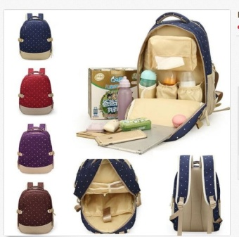 Oxford Fabric Baby Kids Diaper Bag Nappy Changing Mother OutdoorPad Mummy Bag Backpack Shoulder Bag Milk Bottle Mommy Bag Baby CareSupplies - intl - 3