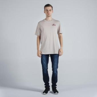 OXYGEN Embroidered Semi-Fit Tee (Taupe) - 4